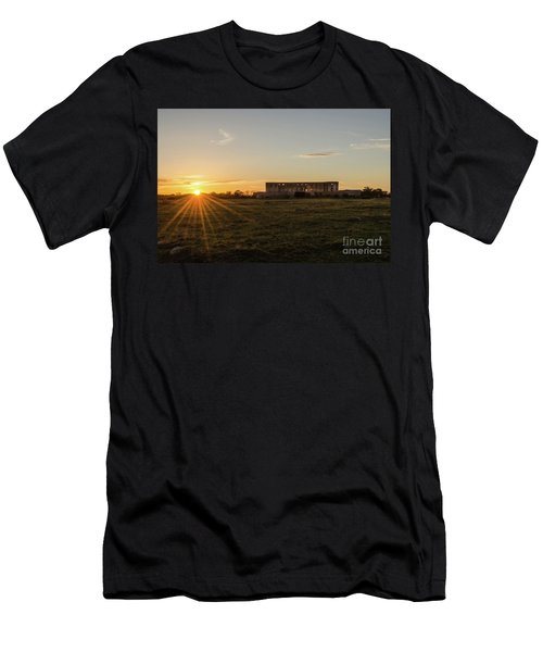 Men's T-Shirt (Athletic Fit) featuring the photograph Sunset By Old Castle Ruin by Kennerth and Birgitta Kullman