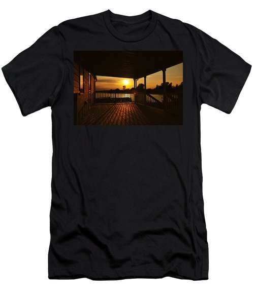 Men's T-Shirt (Athletic Fit) featuring the photograph Sunset By The Beach by Angel Cher