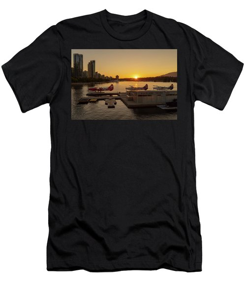 Sunset By The Seaplanes Men's T-Shirt (Athletic Fit)
