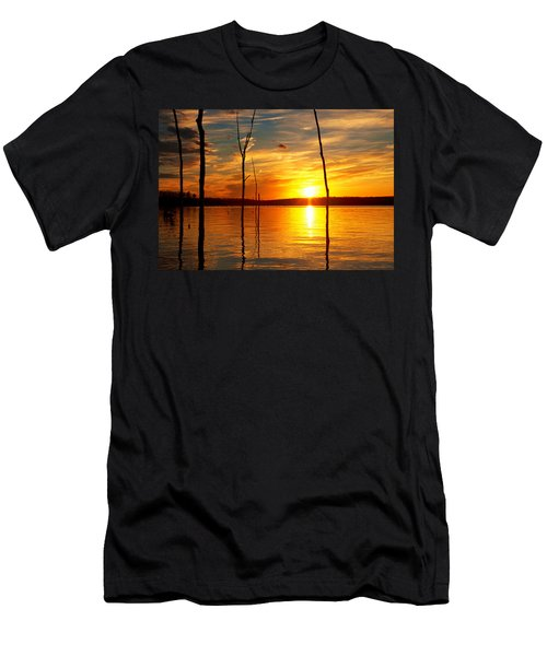 Men's T-Shirt (Athletic Fit) featuring the photograph Sunset By The Water by Angel Cher