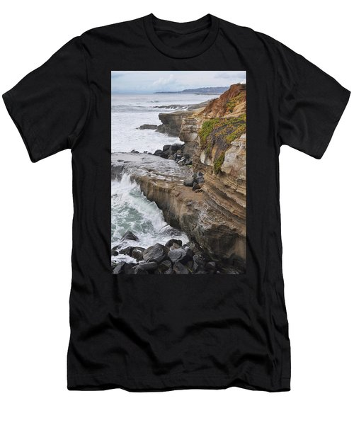 Sunset Cliffs San Diego Portrait Men's T-Shirt (Athletic Fit)