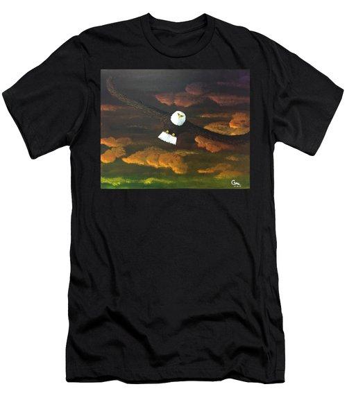 Sunset Eagle Men's T-Shirt (Athletic Fit)