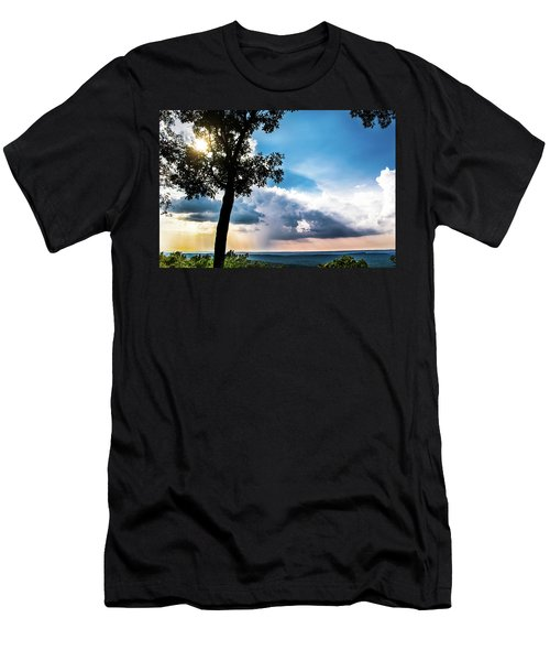 Men's T-Shirt (Slim Fit) featuring the photograph Sunset Explosion by Shelby Young