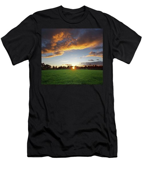 Sunset Field Men's T-Shirt (Athletic Fit)