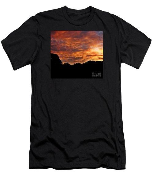 Sunset Fire Men's T-Shirt (Athletic Fit)
