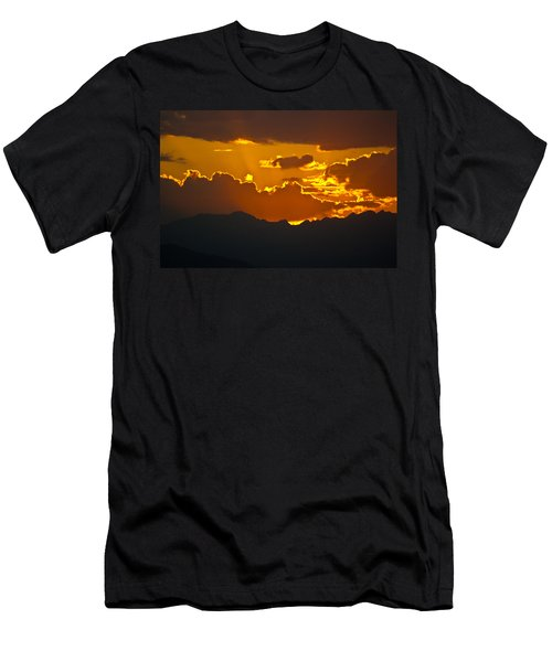 Sunset Fire Men's T-Shirt (Slim Fit) by Colleen Coccia