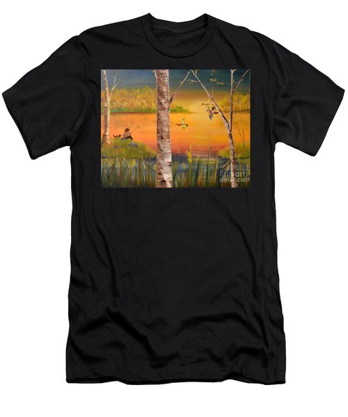 Sunset Fishing Men's T-Shirt (Athletic Fit)