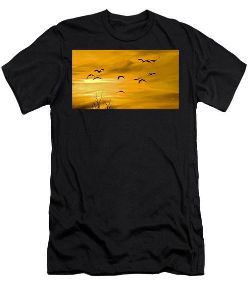 Sunset Fliers Men's T-Shirt (Athletic Fit)