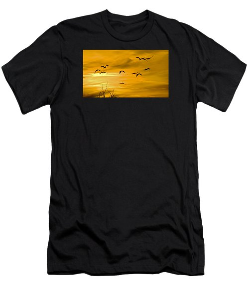 Sunset Fliers Men's T-Shirt (Athletic Fit)