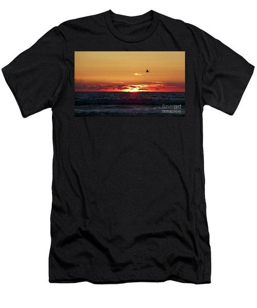 Sunset Flight Men's T-Shirt (Slim Fit) by Nicki McManus