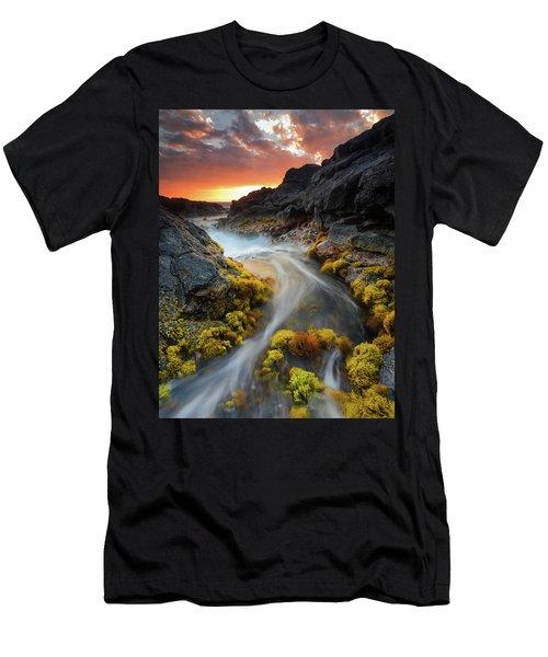Sunset Flow Men's T-Shirt (Athletic Fit)