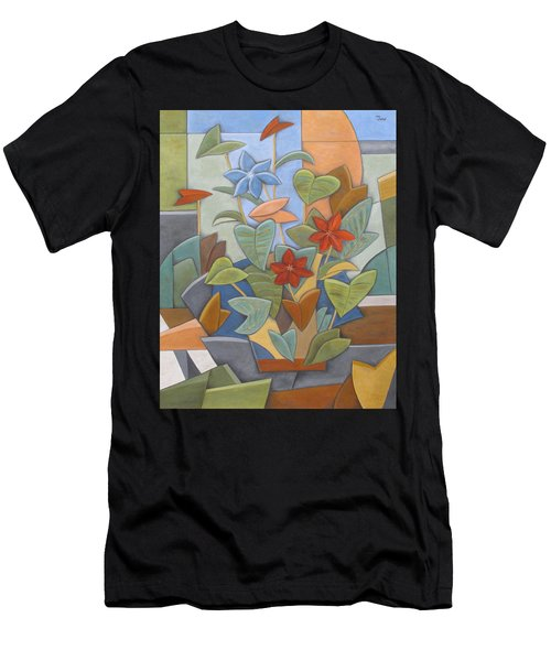 Sunset Flowerbed Men's T-Shirt (Athletic Fit)