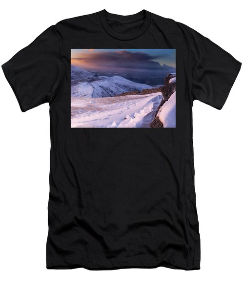 Sunset Following The Mourne Wall Men's T-Shirt (Athletic Fit)