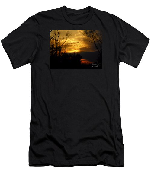 Sunset From Farm Men's T-Shirt (Athletic Fit)