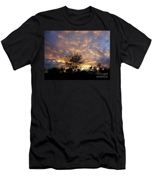 Sunset Glow Men's T-Shirt (Slim Fit) by Gem S Visionary