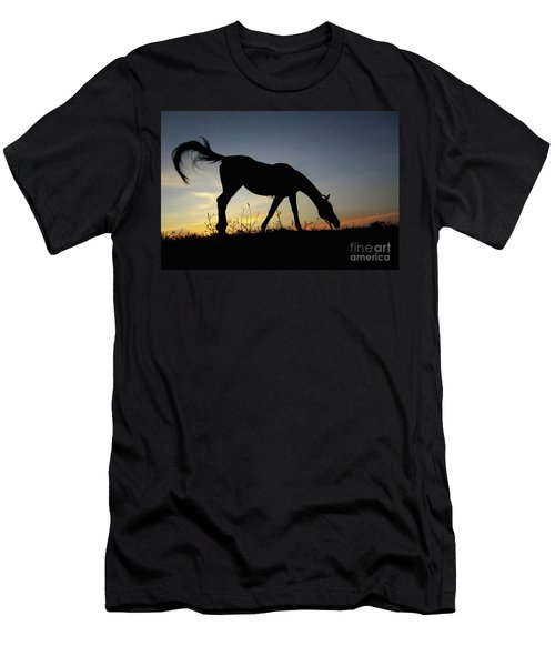 Sunset Horse Men's T-Shirt (Athletic Fit)
