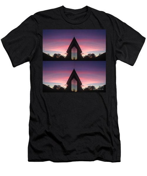 Men's T-Shirt (Slim Fit) featuring the photograph Sunset Hues And Views by Nora Boghossian