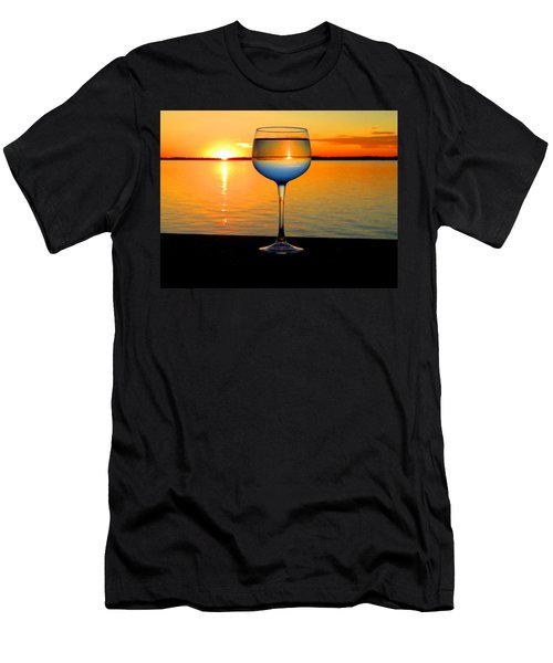 Sunset In A Glass Men's T-Shirt (Athletic Fit)