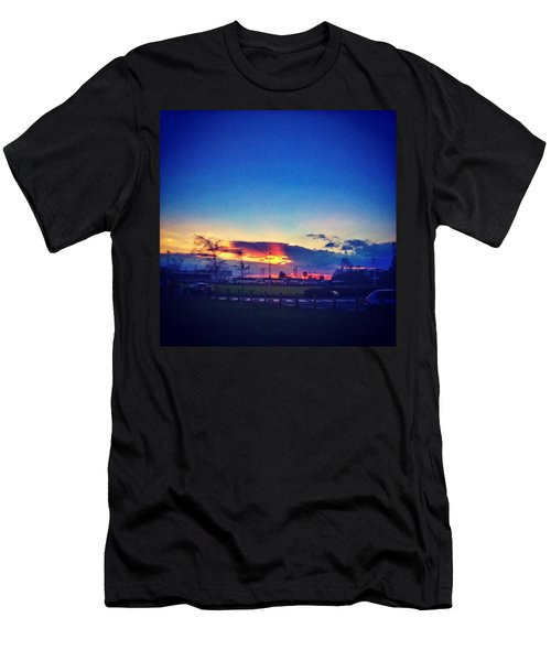 Sunset In College  #sunset #college Men's T-Shirt (Athletic Fit)