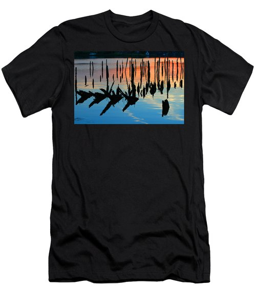 Sunset In Colonial Beach Virginia Men's T-Shirt (Athletic Fit)