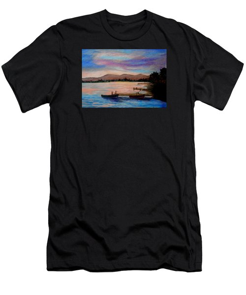 Sunset In Evia Men's T-Shirt (Athletic Fit)