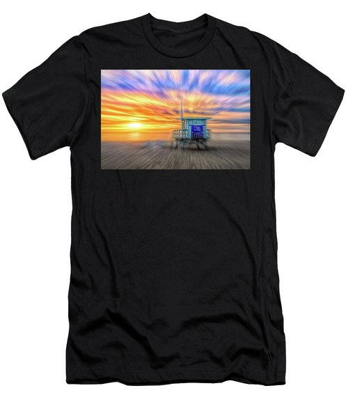 Men's T-Shirt (Athletic Fit) featuring the photograph Sunset In Motion by Michael Hope
