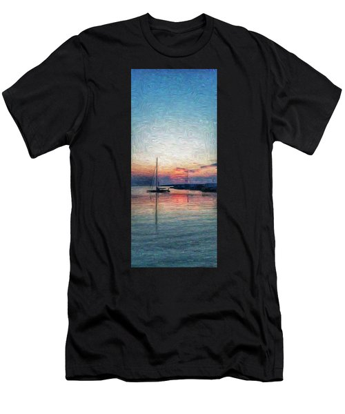 Sunset In Oil Tarpaulin Cove Men's T-Shirt (Athletic Fit)