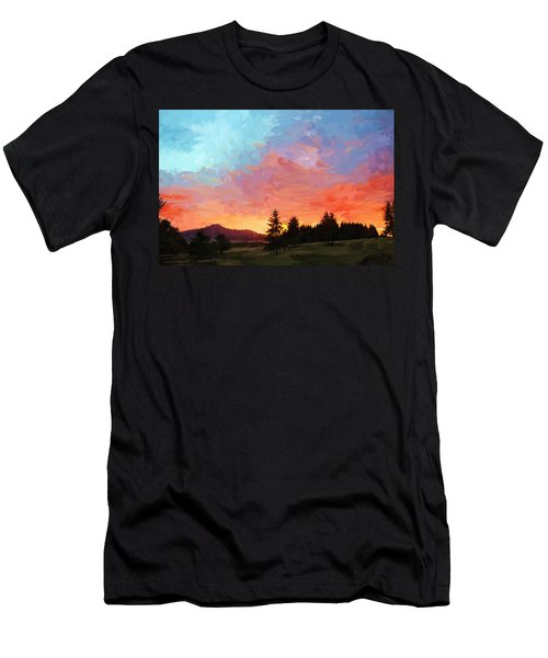 Sunset In Oregon Men's T-Shirt (Athletic Fit)