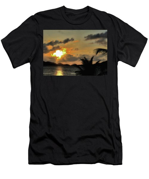 Sunset In Paradise Men's T-Shirt (Slim Fit) by Jim Hill