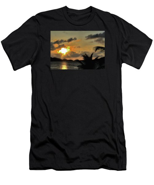 Men's T-Shirt (Slim Fit) featuring the photograph Sunset In Paradise by Jim Hill