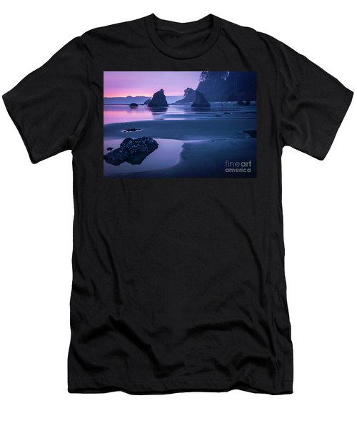Sunset In Ruby Beach Men's T-Shirt (Athletic Fit)