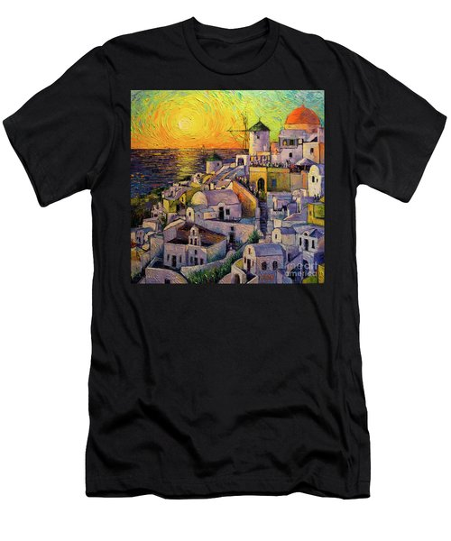 Sunset In Santorini Men's T-Shirt (Athletic Fit)