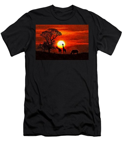 Sunset In Savannah Men's T-Shirt (Athletic Fit)