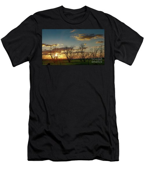 Sunset In The Fields Of Binyamina Men's T-Shirt (Athletic Fit)