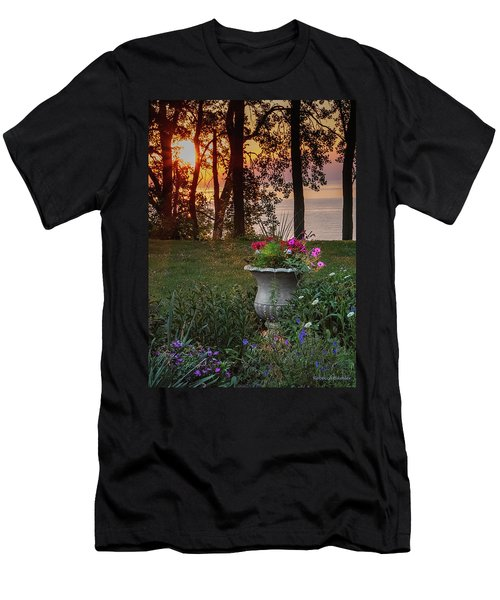 Sunset In The Flowers Men's T-Shirt (Athletic Fit)