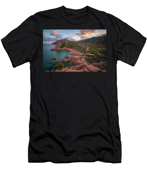 Sunset In The Mountains Men's T-Shirt (Athletic Fit)