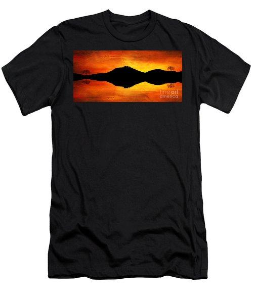 Men's T-Shirt (Slim Fit) featuring the digital art Sunset Island by Ian Mitchell