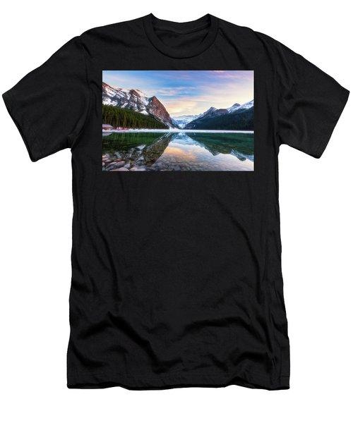 Sunset Lake Louise Men's T-Shirt (Athletic Fit)