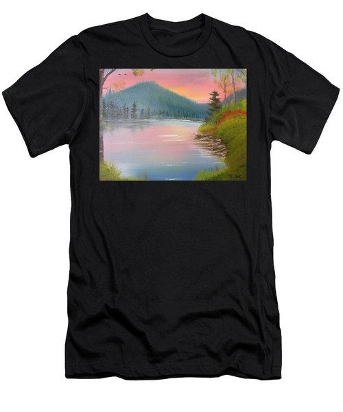 Sunset Lake Men's T-Shirt (Athletic Fit)