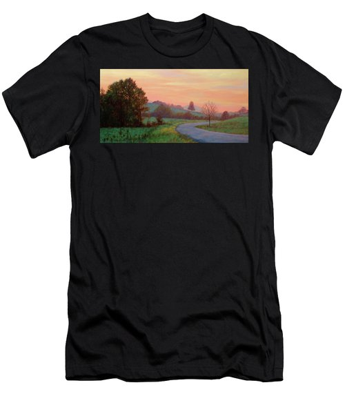 Sunset Meditation- In The Blue Ridge Mountains Men's T-Shirt (Athletic Fit)