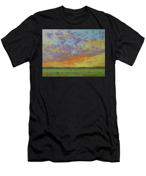 Sunset Near Miles City Men's T-Shirt (Athletic Fit)
