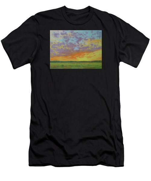 Sunset Near Miles City Men's T-Shirt (Athletic Fit)
