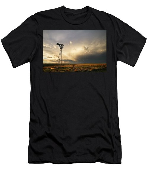 Sunset Near Santa Rosa New Mexico Men's T-Shirt (Athletic Fit)