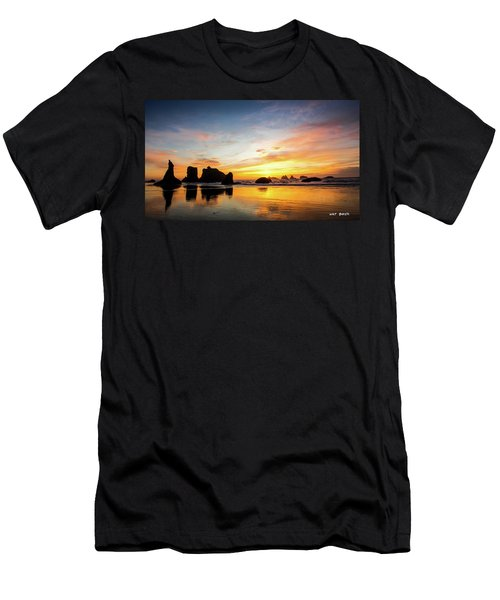 Sunset On Bandon Men's T-Shirt (Athletic Fit)