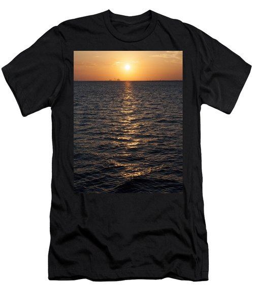Sunset On Bay Men's T-Shirt (Athletic Fit)