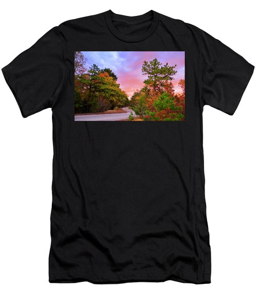 Sunset On Bombing Run Road Men's T-Shirt (Athletic Fit)