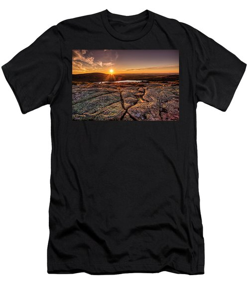 Sunset On Cadillac Mountain Men's T-Shirt (Athletic Fit)