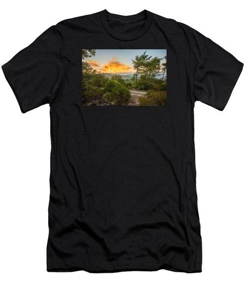 Sunset On Carmel Mountain 2 Men's T-Shirt (Athletic Fit)
