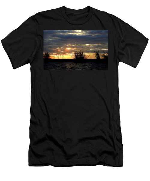 Men's T-Shirt (Slim Fit) featuring the photograph Sunset On Chobe River by Betty-Anne McDonald