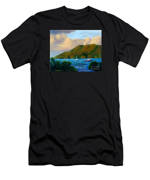Sunset On Cruz Bay Men's T-Shirt (Athletic Fit)